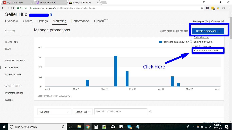 Percentage Off Promotions on ebay