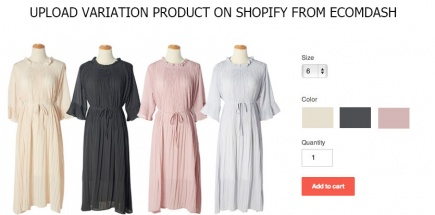 How to Upload variation product on Shopify from Ecomdash