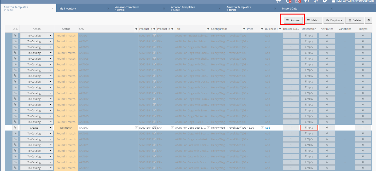 Amazon Bulk Listing from Linnworks
