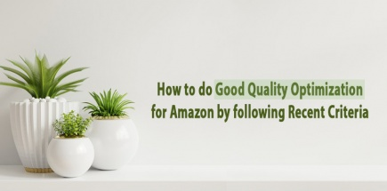 How to do Good Quality Optimization for Amazon by following Recent Criteria